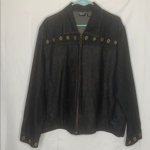 Crossing Point wool embroidered denim jacket